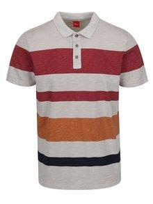 Tricou polo roșu burgundy&gri s.Oliver pentru bărbați