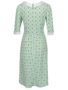 Zelené vzorované šaty s 3/4 rukávom From Kaya with Love Retro