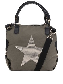 Geantă kaki Haily's Star M cu imprimeu cu stea