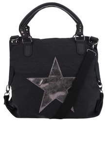 Geantă gri închis Haily's Star M cu imprimeu cu stea