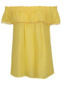Žlutá halenka s odhalenými rameny Dorothy Perkins