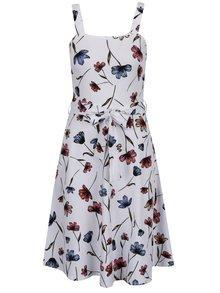 Biele kvetované šaty na ramienka Dorothy Perkins
