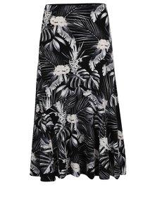 Černá květovaná sukně M&Co