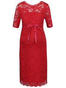 Červené tehotenské čipkované šaty Mama.licious Mivana