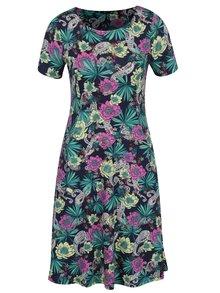 Zeleno-modré kvetované šaty s vreckami M&Co