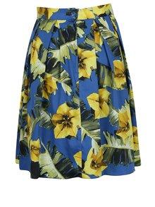 Fustă albastră Dorothy Perkins cu imprimeu floral