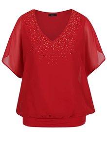Červená blúzka s netopierími rukávmi M&Co