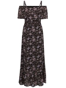 Rochie maxi neagră M&Co cu imprimeu floral