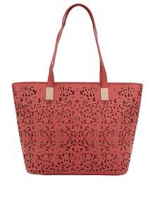 Červená velká kabelka do ruky M&Co
