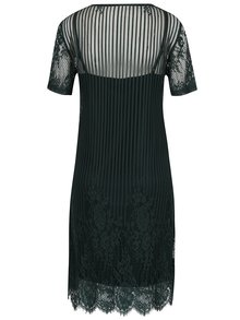 Tmavozelené čipkované šaty 2v1 VILA Maggy