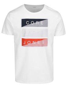 Biele tričko s potlačou Jack & Jones Flipp