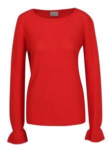 Červený lehký žebrovaný svetr VERO MODA Nice