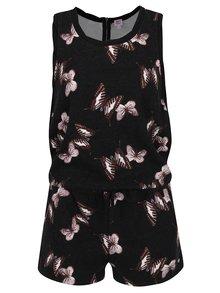 Čierny krátky overal s motívom motýľov Juicy Couture