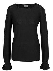 Černý lehký žebrovaný svetr VERO MODA Nice