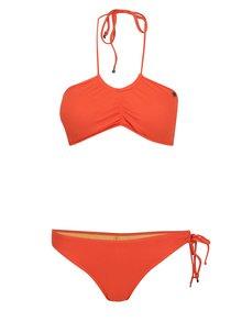 Oranžové dvoudílné plavky se zavazováním za krk Bench