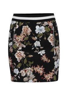 Čierna kvetovaná minisukňa so zipsom Juicy Couture
