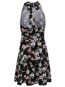 Černé květované šaty s průstřihem Juicy Couture