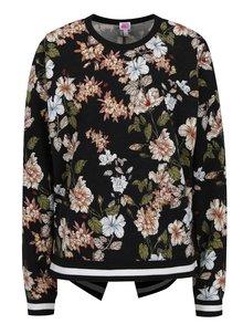 Černá volná květovaná mikina se zavazováním na zádech Juicy Couture