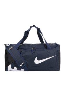 Tmavomodrá unisex športová vodovzdorná taška s potlačou Nike