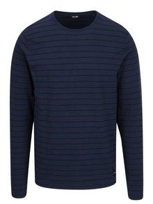 Bluză bleumarin cu dungi și mâneci lungi ONLY & SONS Panno