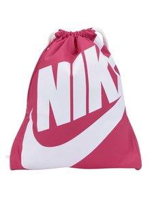 Růžový dámský vak s potiskem a kapsou Nike
