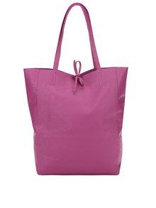 Geantă  shopper roz fandango din piele ZOOT Simple