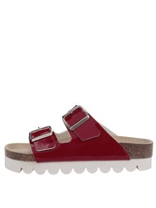 Papuci roșii Snaha Lima 160 cu talpă comodă