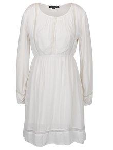 Krémové šaty s čipkovanými detailmi Smashed Lemon