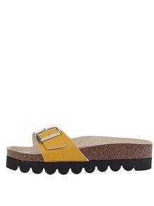 Žluté dámské pantofle Snaha Lima 150