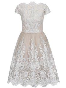 Béžové krajkové šaty Chi Chi London