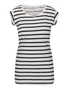 Černo-bílé pruhované tričko ONLY Bone