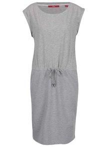 Sivé dámske voľné šaty s krátkym rukávom s.Oliver