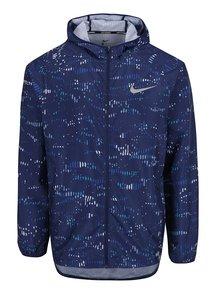 Tmavě modrá pánská vzorovaná sportovní bunda Nike