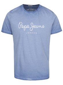 Svetlomodré pánske tričko s potlačou Pepe Jeans West Sir