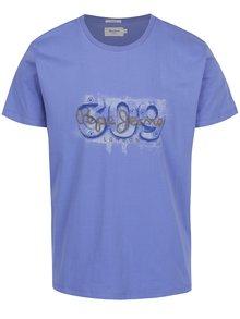 Fialovomodré pánske tričko s potlačou Pepe Jeans Alnus