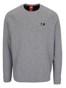 Bluză gri cu detaliu fermoar Nike Modern
