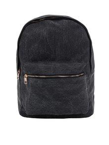 Tmavosivý dámsky plátenný rifľový batoh ZOOT