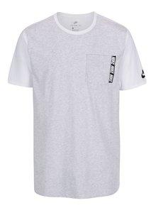 Tricou alb&gri melanj cu buzunar Nike Tee pentru bărbați