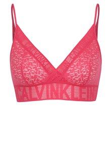 Tmavě růžová průsvitná podprsenka Calvin Klein