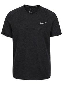 Černé pánské funkční triko Nike Miler