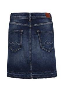 Tmavomodrá rifľová regular mini sukňa Pepe Jeans Livia