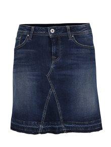 Tmavě modrá džínová regular mini sukně Pepe Jeans Livia