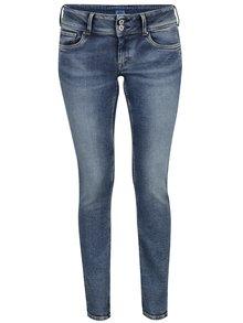 Modré dámské slim džíny s nízkým pasem Pepe Jeans Vera