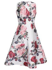 Krémové kvetované šaty bez rukávov AX Paris
