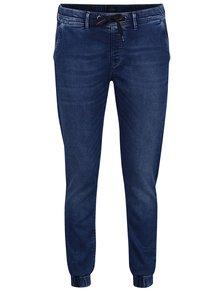 Blugi albastru închis Pepe Jeans Cosie cu talie elastică