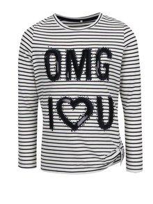 Krémové dievčenské pruhované tričko s filtrami name it Haily