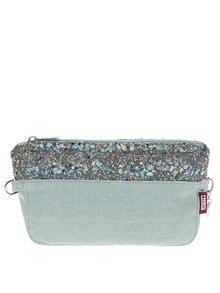 Mentolová vnútorná taška/listová kabelka s kamienkami Ju'sto J-Posh