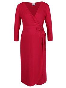 Červené zavinovací těhotenské/kojicí šaty Mama.licious Dalila