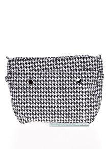 Bílo-černá vzorovaná vnitřní taška Ju'sto J-Tiny
