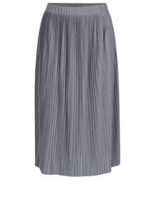 Sivá plisovaná sukňa Jacqueline de Yong Dice
